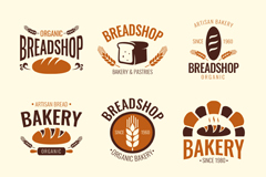 9 bakery label vector