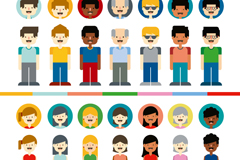 14 character and avatar design vector