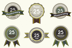 9 25 anniversary label vector diagrams