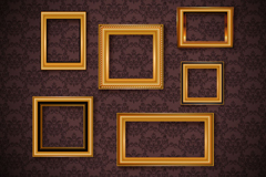 Gorgeous wallpapers Golden frame vector