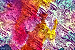 Wave background color pattern vector