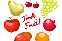 7 delicious fruit vector