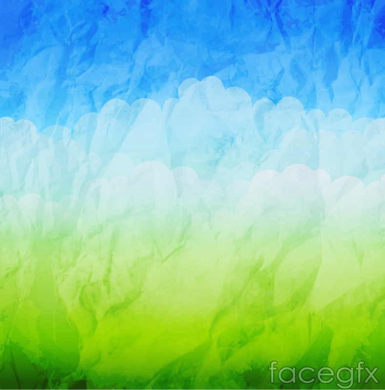 Folding Spring Watercolor Background Vector Free Download