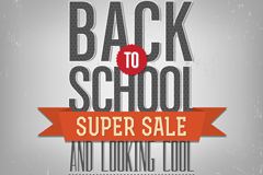 Creative school promotional poster vector