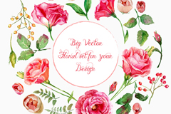 Beautiful watercolor summer flower vector