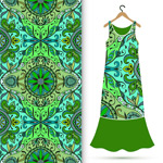 Classical pattern clothing patterns vector