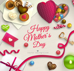 Mother's day candy cards vector