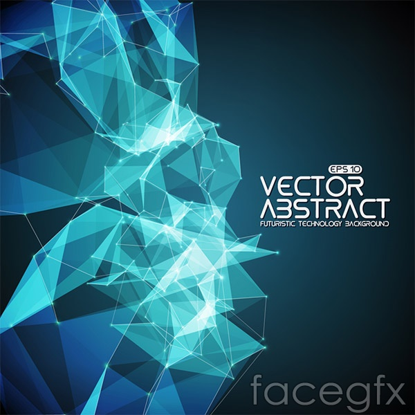 Geometric graphics background vector | Free download