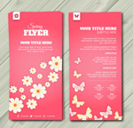 Spring business flyers vector