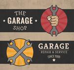 Auto repair banner vector