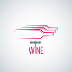 Bottle logo and the wine list vector