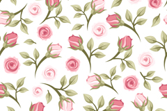 Rose flower vector seamless background