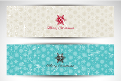 3 old effect snowflake banner vector diagrams