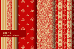 4 red seamless background pattern vector