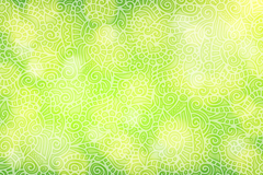 Dream green patterned Halo background vector