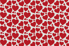 Red love vector seamless background image