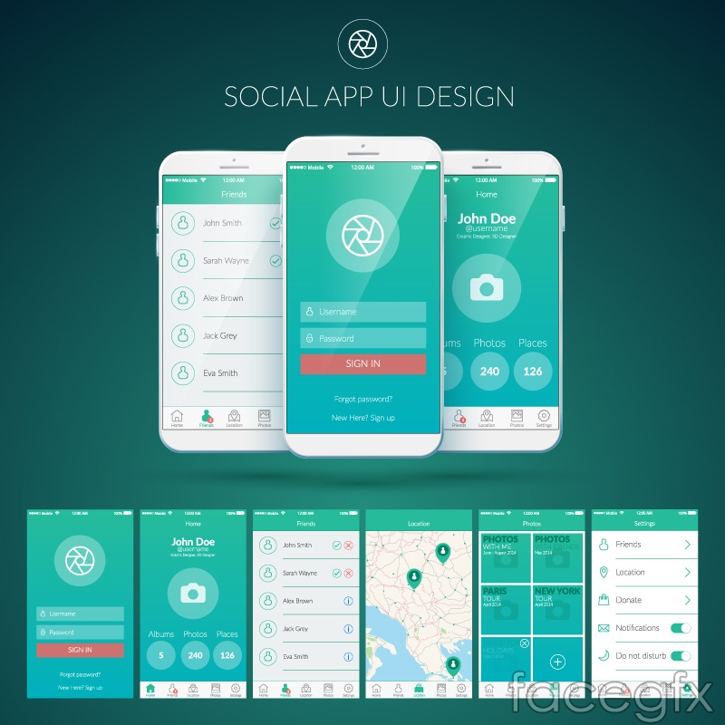 Mobile Social Networking Application User Interface Of