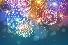Colour Festival of fireworks vector