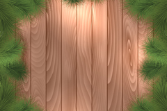 Pine decoration of wood background vector