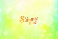 Summertime green background vector
