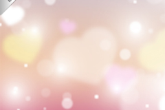 Fantasy pink love background vector