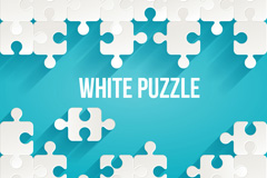 White puzzle pieces, background vector