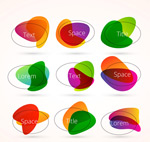 Color the oval label vector
