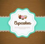 Cupcake tag vector