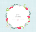Cartoon flower border background vector
