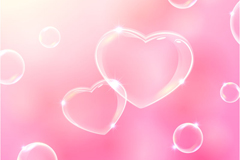 Transparent bubble of love background vector