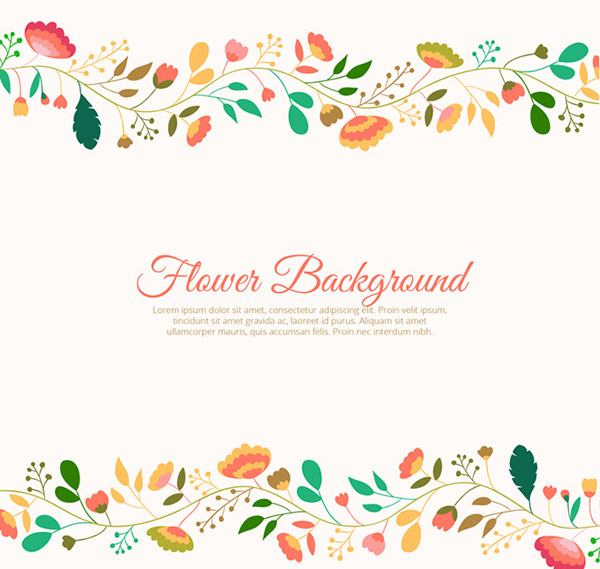 The Creative flower border background vector is a vector illustration ...