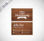 Photographer business cards vector