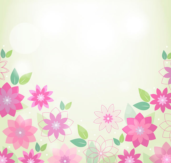 The Spring pink flower background vector will download as a .psd file ...