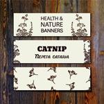 Catnip banner vector