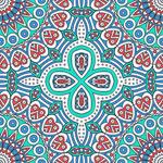 Ethnic pattern shading vector