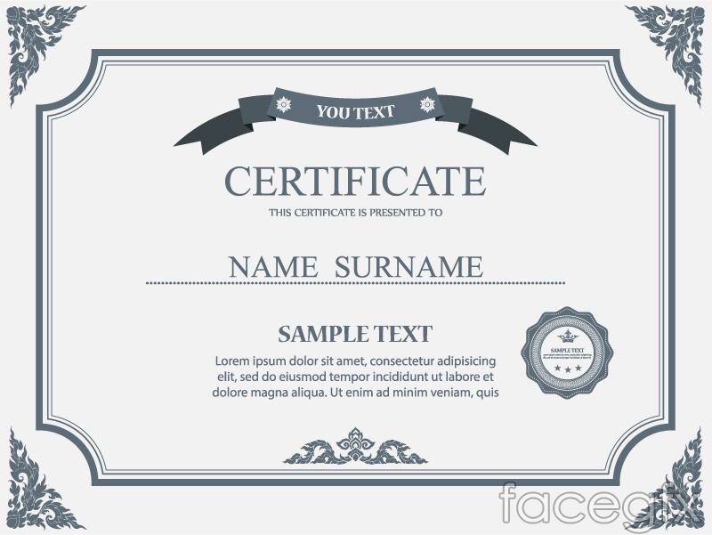 20 Certificate Design Templates Psd Free Download Top Microsoft