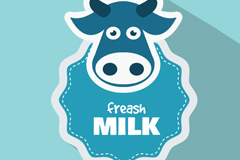 Fresh milk Blue label vector