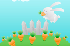 Carrot rabbit vector
