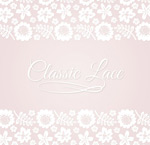 Lace border flowers vector