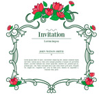 Vine flower invitations vector
