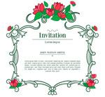 Vine flower invitations vector