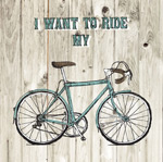 Painted bicycle posters vector