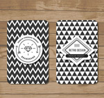 Black and white card vector