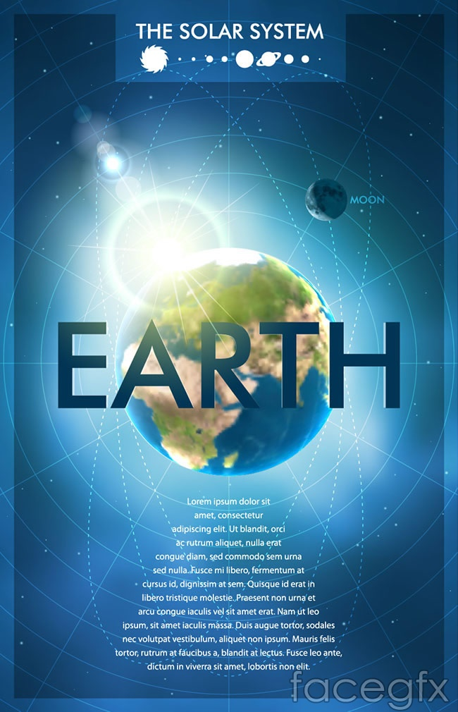 Technology planet poster vector | Free download