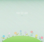 Flower blank text background vector
