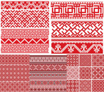 Red knitted seamless background vector