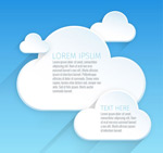 White cloud text vector