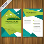 Natural business flyers vector