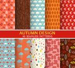 Autumn style seamless background vector