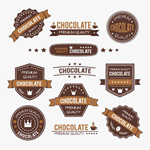 Chocolate labels vector